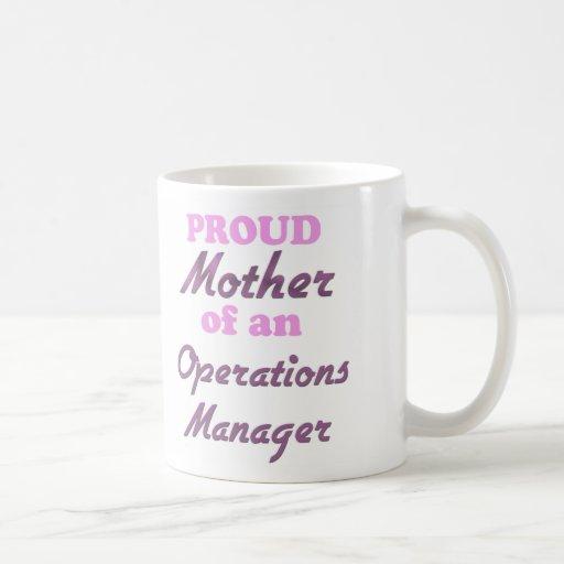 Madre orgullosa de un jefe de explotación tazas de café