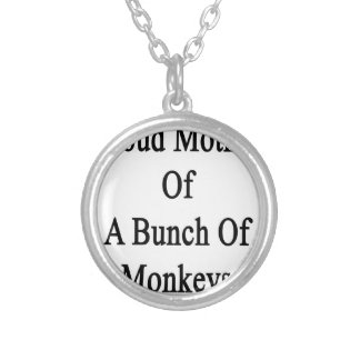 Madre orgullosa de un manojo de monos colgante redondo