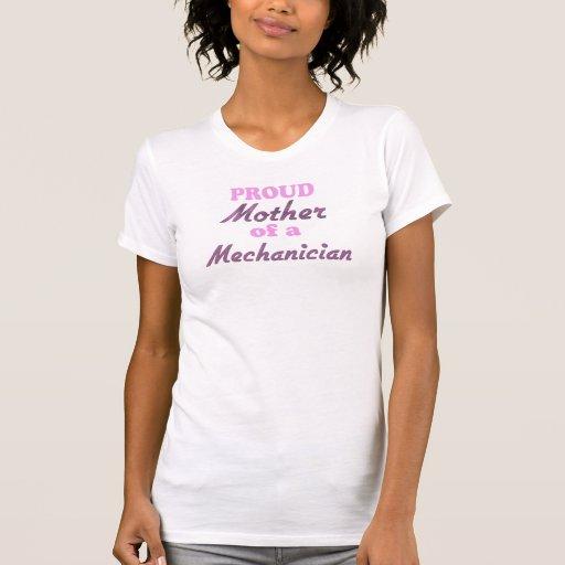 Madre orgullosa de un mecánico camiseta