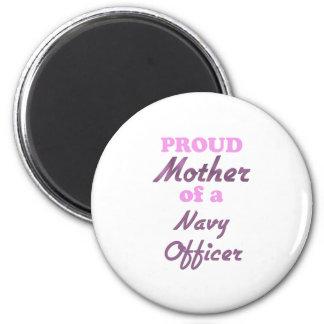 Madre orgullosa de un oficial de la marina de guer imán para frigorifico