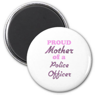Madre orgullosa de un oficial de policía imán redondo 5 cm