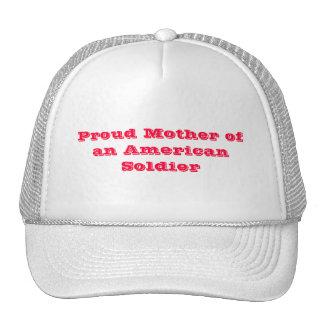 Madre orgullosa de un soldado americano gorros