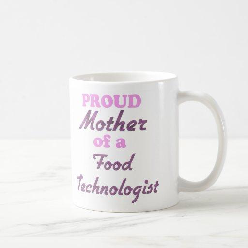 Madre orgullosa de un tecnólogo de la comida tazas