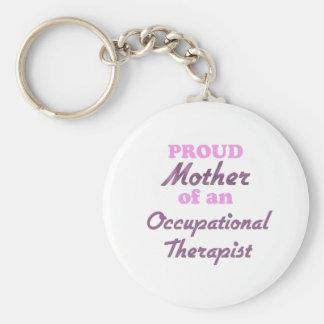 Madre orgullosa de un terapeuta profesional llavero redondo tipo pin