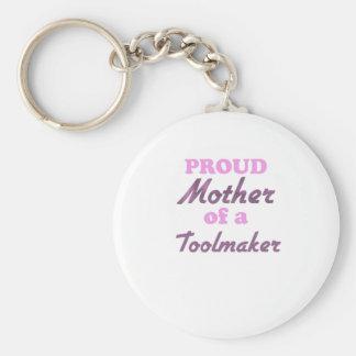 Madre orgullosa de un Toolmaker Llavero Redondo Tipo Pin