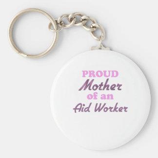 Madre orgullosa de un trabajador de ayuda llavero