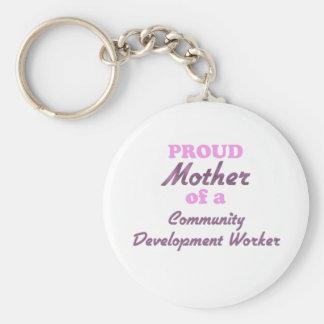 Madre orgullosa de un trabajador de desarrollo de  llavero
