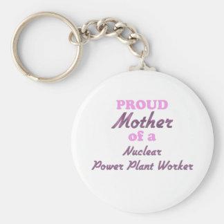 Madre orgullosa de un trabajador de la central nuc llaveros