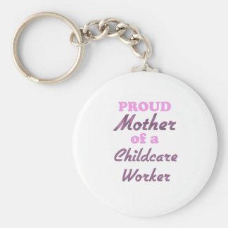 Madre orgullosa de un trabajador del cuidado de ni llavero