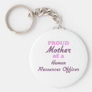 Madre orgullosa de un trabajador del recurso human llaveros