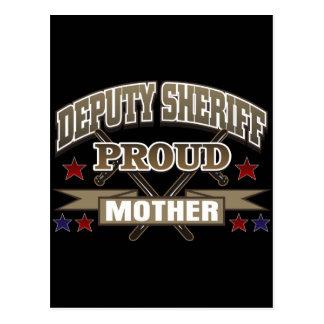 Madre orgullosa del ayudante del sheriff postales