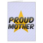 Madre orgullosa felicitación
