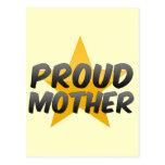 Madre orgullosa tarjeta postal