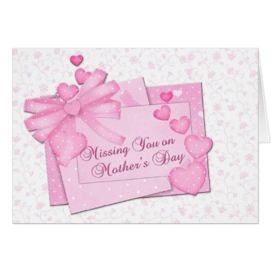 Madre que falta el el día de madre tarjeta de felicitación