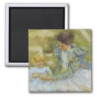 Madre que juega con su niño. c.1897, Maria Cassat Imán Cuadrado