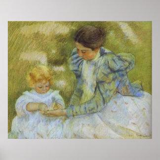 Madre que juega con su niño. c.1897, Maria Cassat Posters