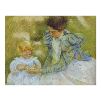 Madre que juega con su niño. c.1897, Maria Cassat Tarjetas Postales