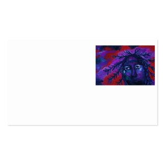 Madre que mira la compasión carmesí y violeta tarjetas de visita