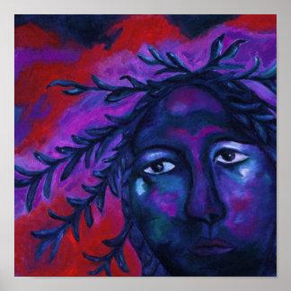 Madre que mira la compasión carmesí y violeta todo impresiones