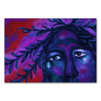 Madre que mira toda la compasión violeta roja abst