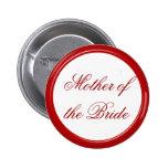 Madre roja de la novia que casa el Pin