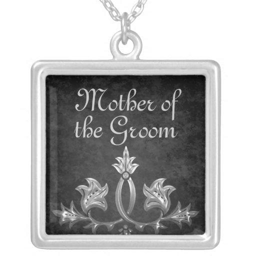 Madre romántica oscura gótica elegante del novio collares personalizados