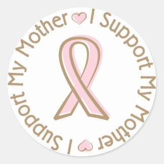 Madre rosada de la ayuda del cáncer de pecho de la pegatina redonda