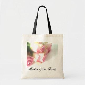 Madre rosada de los rosas de la bolsa de asas el