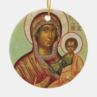 Madre santa de Maria de dios Adorno Navideño Redondo De Cerámica