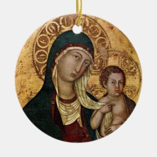 Madre santa de Maria de dios Ornamento Para Arbol De Navidad