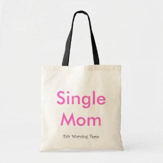Madre soltera bolsas lienzo