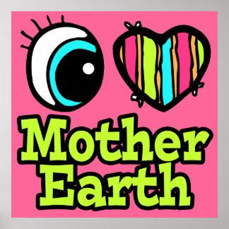 Madre tierra brillante del amor del corazón I del  Impresiones