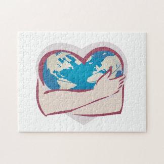 Madre tierra del amor rompecabezas con fotos
