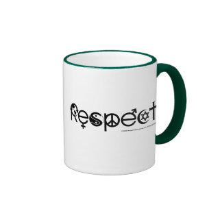 Madre tierra del respecto tazas de café