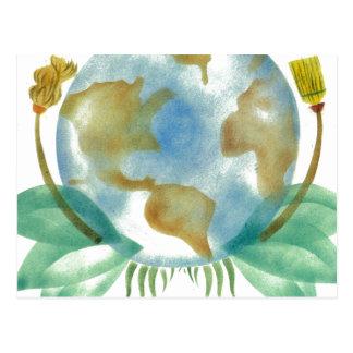 Madre tierra: Limpíela Tarjetas Postales