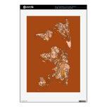 Madre tierra marrón anaranjada calcomanía para consola PS3