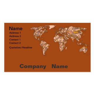 Madre tierra marrón anaranjada tarjetas de visita