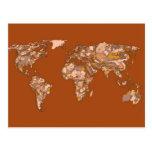 Madre tierra marrón anaranjada tarjeta postal