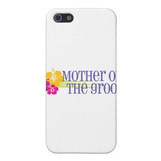 Madre tropical del boda del novio iPhone 5 fundas