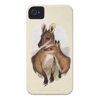 Madre y bebé (pintura) del Wallaby iPhone 4 Case-Mate Cobertura