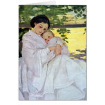Madre y bebé tarjeta