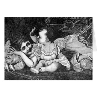 Madre y bebé - tarjeta