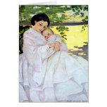 Madre y bebé - tarjeta de Willcox del vintage