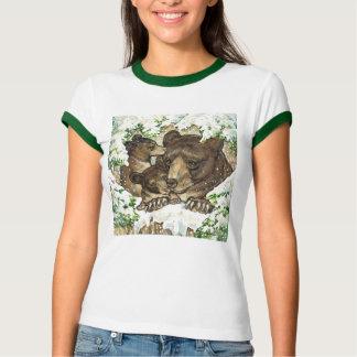 Madre y Cubs del oso negro del arte de la fauna Camisas