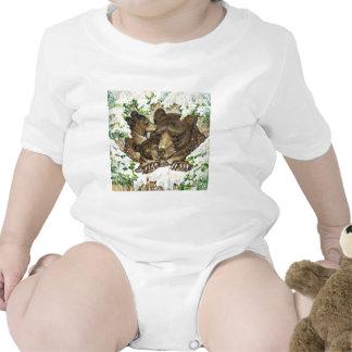 Madre y Cubs del oso negro del arte de la fauna de Camisetas