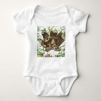 Madre y Cubs del oso negro del arte de la fauna Tshirts