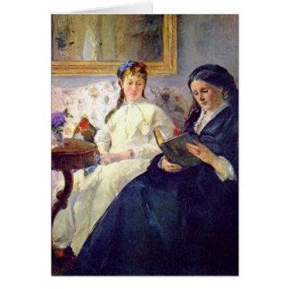 Madre y hermana del artista de Berthe Morisot Tarjeta