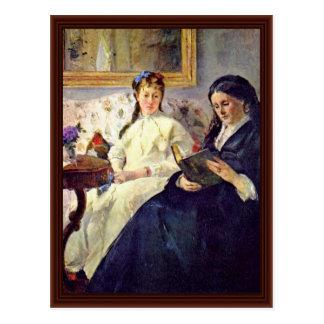 Madre y hermana del artista de Morisot Berthe Postales
