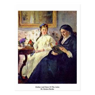 Madre y hermana del artista de Morisot Berthe Tarjetas Postales