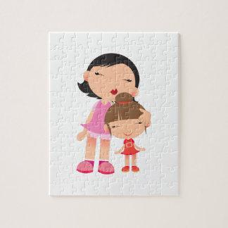 Madre y hija puzzle con fotos